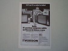advertising Pubblicità 1969 VOXSON TELEVISORI