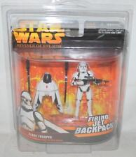 STAR WARS 2005 REVENGE OF THE SITH ROTS CLONE TROOPER W FIRING JET BACKPACK ~SS2