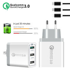 Quick Charge 3.0 USB 5V 3A Cell Phone Wall Home Travel AC Fast Charger Adapter