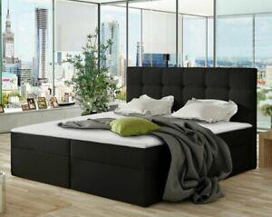 Boxspringbett Fanso mit Matratze und zwei Bettkästen Doppelbett Topper Ehebett
