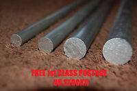 "Aluminium round bar 3/8""  1/2"" 5/8""  3/4"" inch 6082 T6 300mm Long Model engineer"