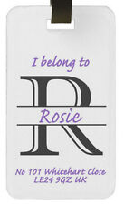 Personalised luggage tag Initial, name holiday gift birthday