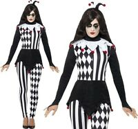 Halloween Ladies Fancy Dress Female Jester Costume Womens Outfit by Smiffys New