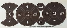 Brown Mercedes Benz Matte Brown Steering Wheel Button Repair Decals Stickers