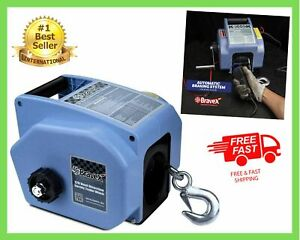 Electric Winch Reversible Portable 12 Volt DC Boat Trailer Truck Corded Remote