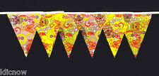 Sugarskull Design Fabric Bunting 30ft Long (approx) Hand made Vintage style