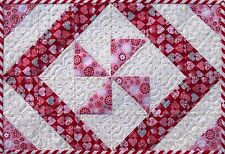 One Hour Placemat & Table Runner~Easy~Only cut 6 squares to make placemat~ #428