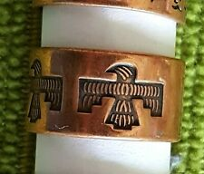 Hand Crafted Copper Ring~Native American Thunderbird~Healing Effects of Copper
