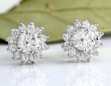 0.80Ct Natural Diamond 14k Solid White Gold  Earrings