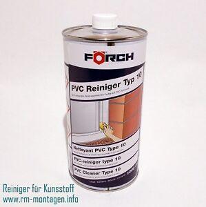 Reiniger für Kunststoff / PVC Typ 10 & 20