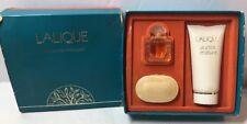 Lalique Les Gestes Parfumes Miniature Set Collection With Parfum,Soap,Shower Gel