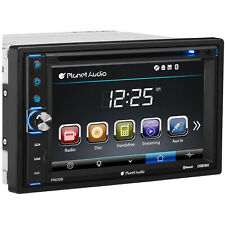 Planet Audio P9630B Double DIN Touchscreen Bluetooth In Dash Vehicle DVD Player