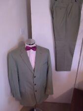 """AUSTIN REED Men's Pale Green 2PC Suit C46"""" Reg W40"""" L30"""" Classic Fit 100% Cotton"""