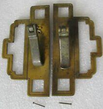 2 VINTAGE BRASS FINISH ORIENTAL STYLE METAL CABINET CUPBOARD DOOR  PULLS