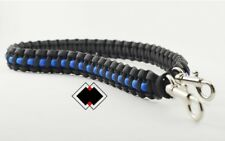 Police Thin Blue Line - 550 paracord survival lanyard - handmade in USA