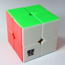 2017 Best Moyu Lingpo 2x2 Speed Cube Puzzle Cube Stickerless Smooth Magic Cube