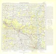 Russian Soviet Military Topographic Maps - OSTROWIEC (Poland),1:200 000, ed.1963