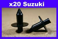 For SUZUKI 20 motor cycle bike fairing panel trim rivet fastener clips