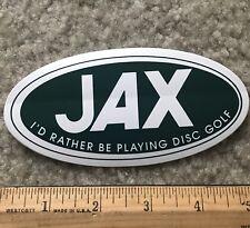 Jax Sporting Goods Sticker Store Colorado Outdoor Decal DISC GOLF Frisbee FL