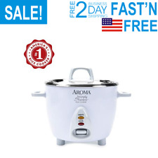 Simply Stainless Rice Cooker White Cooks 3Cups of uncooked rice For Home Kitchen