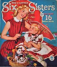 Vintage Uncut 1960 Six & Sweet Sixteen Paper Dolls~#1 Reproduction~Fabulous Set!