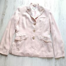 Talbots Women's Size 4 Blazer Jacket Light Pink Button Front Single Breast