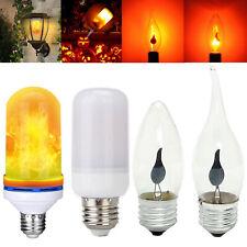 E27 E14 9W LED Efecto Llama Fuego Luz Maíz Lámpara Simulado Naturaleza Titileo H