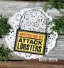 DECO Mini Sign Protected by Attack LOBSTERS Wood Ornament Lobster Fun Gag  NEW