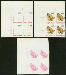 Mozambique 1977 1.50e Pangolin progressive proof blocks