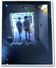Sandy Koufax Clayton Kershaw Autographed 27X35 Canvas Dodgers Tunnel #/54 MLB