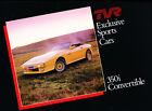 TVR 350i Convertible Original Car Sales Brochure Folder - 1984 1985 1986 1987