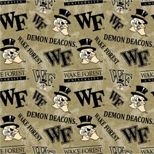 NCAA Wake Forest University Tone on Tone WF-1178 Cotton Fabric by the Yard