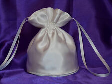 White satin dolly bag for bride/ bridesmaid/eveningwear/communion