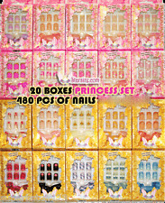Japan Red Pink White Yellow Orange Black French Tip Full Acrylic 480 Nails LOT