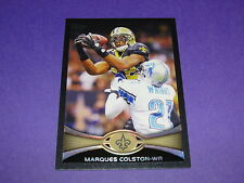 2012 TOPPS Marques COLSTON #215 Black SP/57 New Orleans SAINTS Hofstra PRIDE