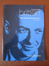 BRITTEN Three pieces from the Suite Op.6 for Violin & Piano pub. B & H