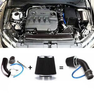 Auto Car Aluminum Cold Air Intake Filter Induction Pipe Power Flow Hose System