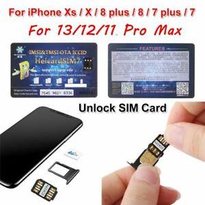 Nano-SIM Unlock Card Heicard Sim Chip For iPhone 13/12/11 Pro Max XS XR 8 7 Plus