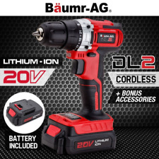 20V Lithium Cordless Power Drill Electric Drilling 500mAh LED Hand Tools Drill