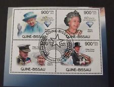 Guinea Bissau-2012-QEII-60 Years Minisheet-Used