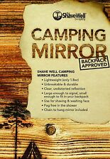 SHAVE WELL UNBREAKABLE CAMPING MIRROR - Backpack Approved