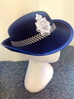 Adult Lady Party Costume Police Officer Hat Party Fancy Dress Up Policewoman Hat