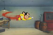 Paul TerryAnimation Background Painting/Filmation Cels MIGHTY MOUSE
