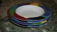 LOT of 4   MIKASA  CURRENTS  4  CEREAL / DESSERT / SOUP  BOWLS 8 1/2 inch across