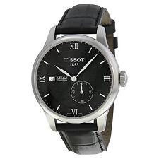 Tissot T-Classic Le Locle Black Dial Black Leather Mens Mens Watch