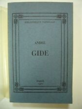 CENTENAIRE NAISSANCE ANDRE GIDE CATALOGUE EXPO BIBLIOTHEQUE NATIONALE 1970 TBE
