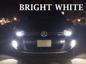 FOR VW VOLKSWAGEN GOLF MK6 LED Fog Light Bulbs CANBUS- BRIGHT XENON WHITE