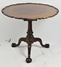 Kindel Winterthur Chippendale Mahogany PieCrust Tea Table Claw & Ball