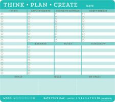 Think plan créer Bloc-notes to-do-liste 60 feuilles Pad