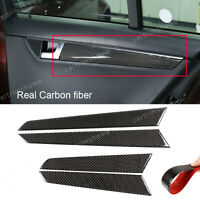 Carbon fiber Inner Door Panel Moulding Trim For Mercedes Benz C Class W204 07-13